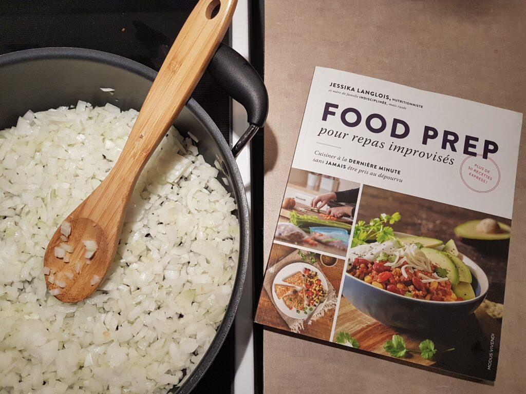 Food Prep, livre, oignon